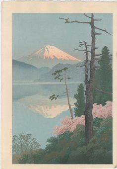 artelino - Online auction catalog for Japanese prints, ukiyo-e and contemporary Chinese art. The artelino company, located in a small village in Bavaria, is a family business specialized in online auctions of Japanese prints since Japanese Art Prints, Japanese Art Styles, Japanese Colors, Japanese Artwork, Japanese Painting, Chinese Painting, Monte Fuji, Art Japonais, Art Graphique