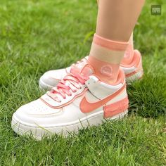 Air Force 1, Nike Air Force, Bow Sneakers, High Top Sneakers, Dark Shades, Pink Quartz, Pink Accents, Light In The Dark, Coral
