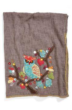 Amity Home 'Hoot' Cotton Throw  Pinned by www.myowlbarn.com