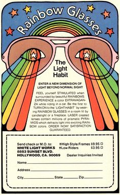 The light habit - rainbow glasses :/