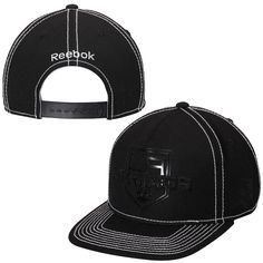 18b55fc5035 Mens Los Angeles Kings Reebok Black Cross Check Snapback Hat