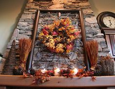Beautiful fall mantle