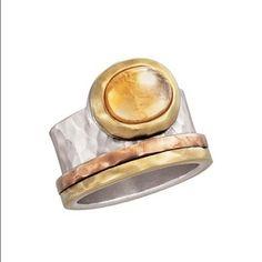 Silpada Ring Silpada Metallic Mix Ring. Brass, Citrine, Copper, Sterling Silver.  Size 7 Silpada Jewelry Rings