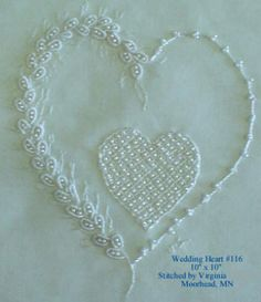 312 Best Embroidery Hearts Images In 2019 Embroidery Stitches