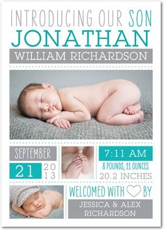 baby birth announcement