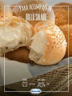 Los Bollos salados Philadelphia® son el acompañante perfecto para una Sopa o Crema calientita. ¡Que los disfrutes!    #bollos #quesophiladelphia #recetasdepan #bollosalados #quesocrema #pan