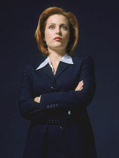 Gillian Anderson as an FBI agent on The X-Files, 1993.    Read more: Stylish Workwear for Women - Workwear Style - Redbook