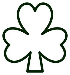Saint Pattys Day Shamrock Black White Line Flower Art Coloring Sheet Colouring Page bandicoot Coloring Book Colouring Sheer Coloring Book Colouring Page colouringbook.org SVG