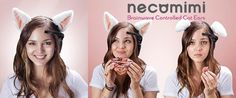 Neurowear Necomimi - show the world what's really on your mind. The loveable cat ears that respond with your mood.