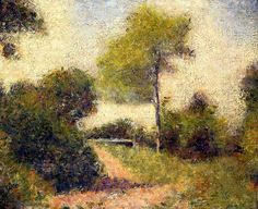 The Hedge - Georges Seurat - circa 1882