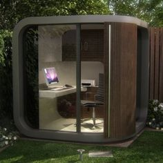 home office in garden. Dad Should See This** This Office Pod Allow You To Have A (tiny) Home In Your Own Back Yard! Garden