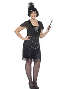 Adult Curves Flapper Costume by Fancy Dress Ball