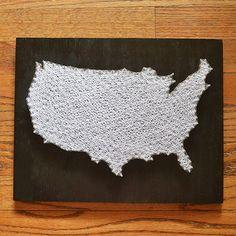 USA Flag String Art