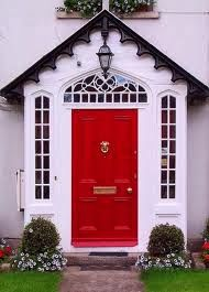 """This beginner's guide to feng shui decorating looks at painting your front door & using a """"bagua"""" or energy map of your home. Get easy feng shui tips without all the esoteric underpinnings. Links for further learning are included. The Doors, Entry Doors, Wood Doors, Windows And Doors, Door Entryway, Cottage Entryway, Gothic Windows, Cottage Door, White Cottage"""