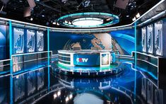 6 | With Glittering New Set Design, CCTV News Takes Aim At The World | Co.Design | business + design