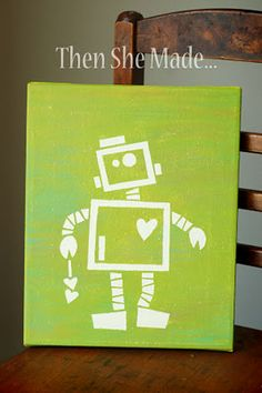 Robot canvas--proof that no matter how original I think my idea is, it's already been done. :)