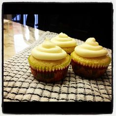 Honey Cupcakes with Honey Cream Cheese Frosting!