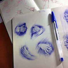Sketchbook | 2015 on Behance... That is amazing art work, the skill, and artistry to make art with a regular ball point pen!!!
