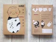 Milkii – Design is art Kids Packaging, Food Packaging Design, Paper Packaging, Packaging Design Inspiration, Box Packaging, Coffee Packaging, Clothing Packaging, Tampons, Baby Design