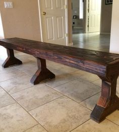 Restoration Hardware Inspired Dining Room Bench