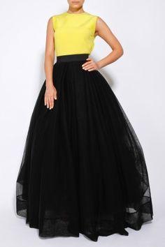 Long Tulle Ball Skirt by MARTIN GRANT