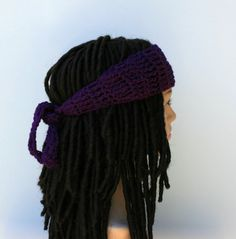 Dark orchid Dread headband dreadband head hair band wrap scarf hippie bandana  headband f8d1c93c7546