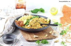 Dahl de lentilles corail et épinard au lait de coco #omnicuiseur #veggie Grains, Gluten, Rice, Food, Vegetable Curry, Indian Dishes, Tagliatelle, Milk, Meals