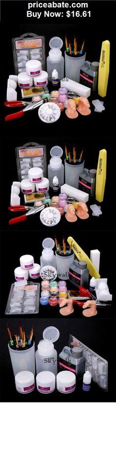 nails: Nail Art Set Acrylic Liquid Glitter Powder File Brush Form Tips Tools DIY Kit SY - BUY IT NOW ONLY $16.61