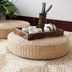 Tea stro tatami matten meditatie-boeddha meditatiekussen meditatie kussen pad mat dikke rotan riet futon po