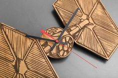 Star Wars Laser Engraved Wood Clocks Drop - Massdrop