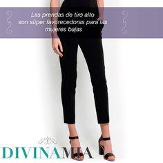 ¿Quieres lucir más alta? Las prendas de tiro alto te favorecerán mucho, pues crean la ilusión de piernas más largas.