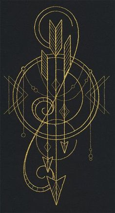 arrows with basic geometric shapes. minimalistic totem.