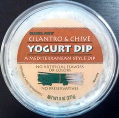 Trader Joes Cilantro & Chive Yogurt Dip Try dipping celery in this - wow!