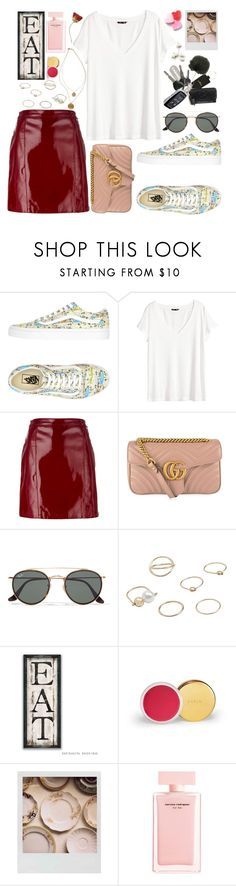 """Lunch date"" by carolsposito ❤ liked on Polyvore featuring Vans, H&M, Manokhi, Gucci, Ray-Ban, Kenneth Cole, MANGO, AERIN, Polaroid and Narciso Rodriguez"