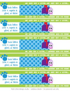 Blues Clues Printable Birthday Party Address by FreshChickDesigns, $6.00