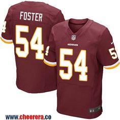 Men's Washington Redskins #54 Mason Foster Burgundy Red Team Color Stitched NFL Nike Elite Jersey