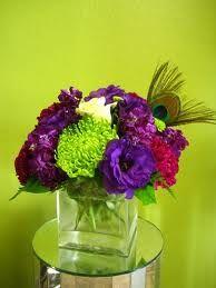Peacock wedding flowers