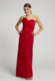 Prom Dresses 2013 - Sheer Jersey One Shoulder Drape Dress from Camille La Vie and Group USA