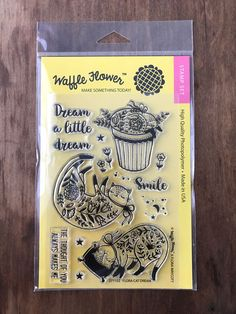 Waffle Flower Flora Cat Dream Stamps stamp set cats kittens sleep #WaffleFlower #set