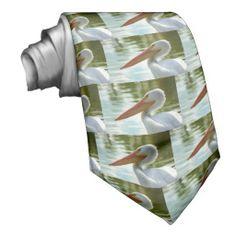 Pelican Posed Neckties