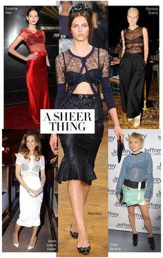 Sheer top trend #fashion #harpersbazaar #lingerie #sheer #trend