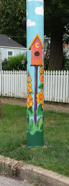 Moon City Creative District Painted Utility Pole 2014 Atlantic Street @ Robberson
