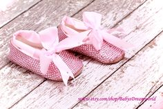 baby Rhinestones shoes, 0-6 month. $95.00, via Etsy.