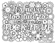 61 Free Printable Coloring Pages Adults Only Swear Words Download Free Images