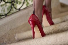 fashion, shoes, red, red shoes, chic, luxury