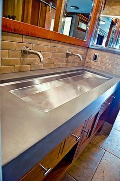 Concrete Sink - Concrete Wave Design |  Concrete Sinks, Concrete Countertops, Concrete Firepits, Concrete Furniture