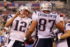 The dynamic duo - Tom Brady and Rob Gronkowski