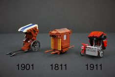Different transports in different eras Lego Wheels, Lego Furniture, Lego Vehicles, Lego Table, Lego Modular, Lego Construction, Lego For Kids, Lego Design, Lego Creator