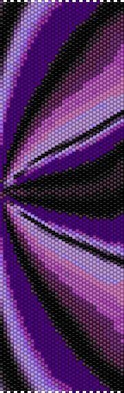 BPPF0007 Purple Fractal Even Count Single Drop Peyote Cuff/Bracelet Pattern