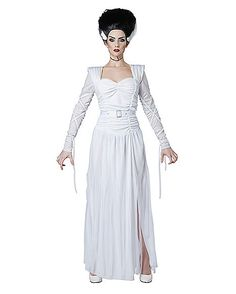 Adult Monster Bride Costume - Spirithalloween.com  sc 1 st  Pinterest & Sheu0027s ALIVE! Bride of Frankenstein easy diy costume. | All Hallowu0027s ...